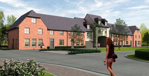 20 nieuwe landelijke woningen rond plein in oud turnhout - Fotos van eigentijds huis ...
