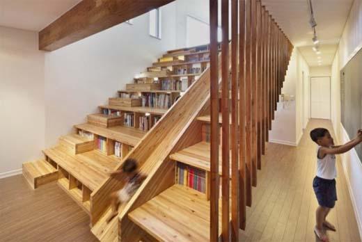 Een multifunctionele houten trap in je interieur - Interieur gevelbekleding houten ...