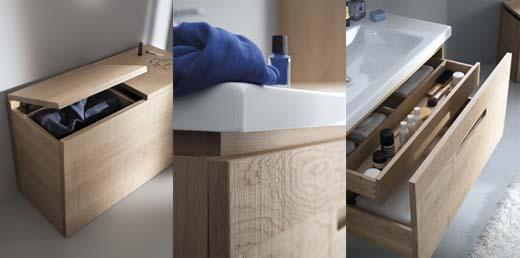 Batibouw 2014 hout verovert badkamers bij facq - Houten meubels voor badkamers ...