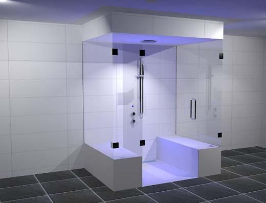De Upfall shower kan in woningen toegepast worden, maar ook op jachten ...