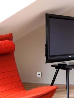 Televisie- en internetaansluiting in één contactdoos