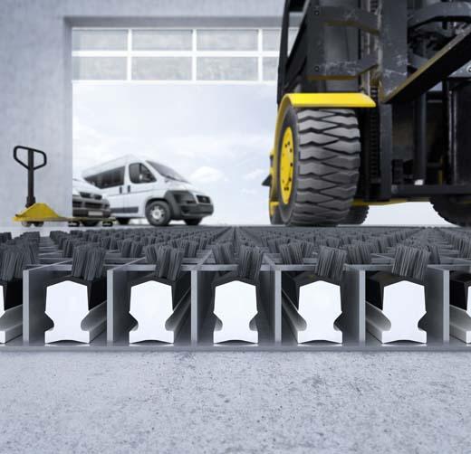 Robuuste emco entreemat voor logistieke centra, fabrieken, garages