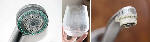 douchekop, wazig glas, kraan