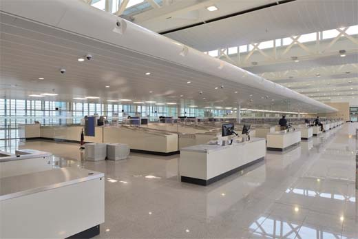connector brussels airport 300c plafond - Hunter douglas