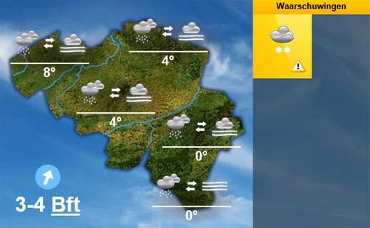 weersverwachting voor vandaag