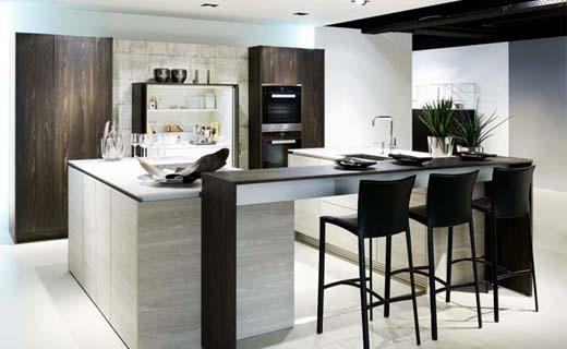 Individuele keuken met hoogwaardige details
