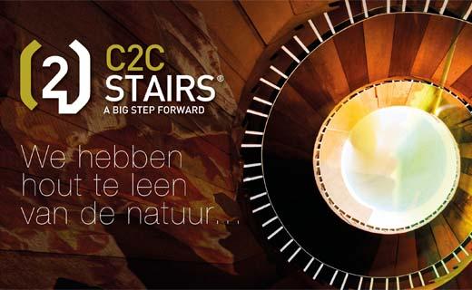 C2C STAIRS maakt eerste Nederlandse circulaire trap mogelijk