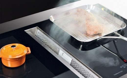 Dampkap en kookplaat in één zorgt voor flexibel koken