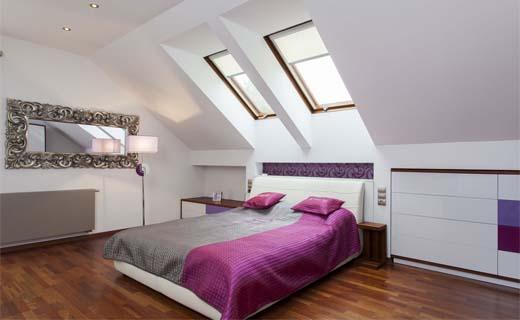 Een slaapkamer op zolder