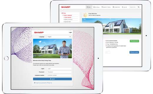 Sharp opent webshop voor zonne-energieoplossingen
