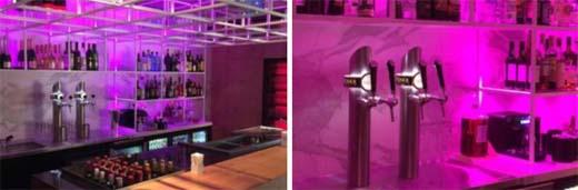 Luxe bar met keramisch blad en achterwanden
