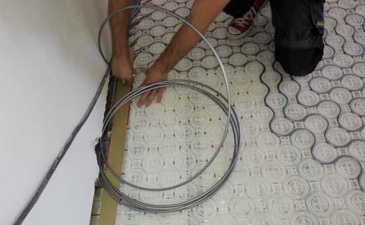 Vloerverwarming zonder breekwerk