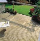 Het onderhoud van terrassen in hout