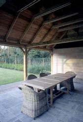 Carport wordt terras bij mooi weer - Overdekt terras in hout ...