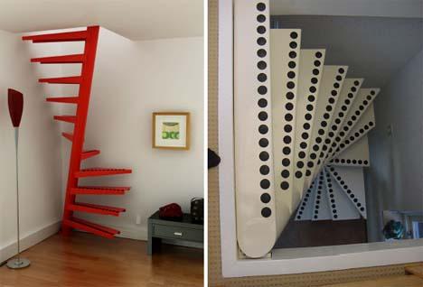 De ruimtebesparende trap een kunstwerk op 1m2 for M2 trap berekenen