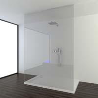 Glazen Douchewand Tot Plafond.Onzichtbaar Muur En Plafondprofiel Houdt Doucheglas Stevig