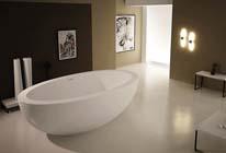Is uw bad gemaakt van door-en-door gekleurd sanitair acryl?