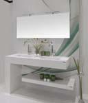 Wastafel uit kwarts maakt de badkamer compleet