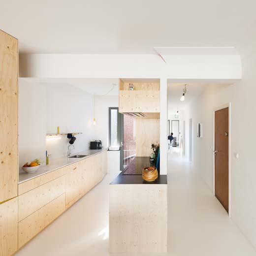 Verbouwing van een (klein) appartement, Moorsjacobs architecten