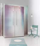 Weg met wit: ontdek de koelkast met behangpapier