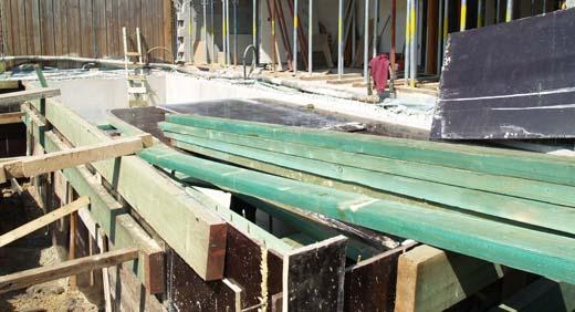 Bekisting voor het dak van de kelder