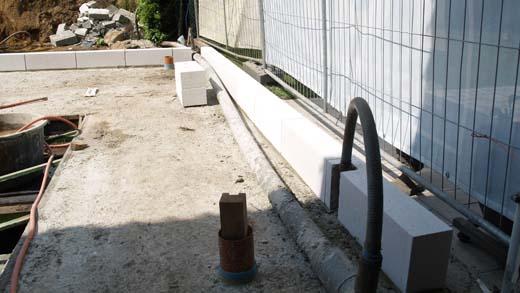 De verbouwing - kimlaag van Ytong blokken
