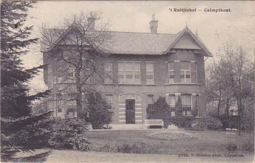 de oude villa 't Ruitjeshof in Kalmthout
