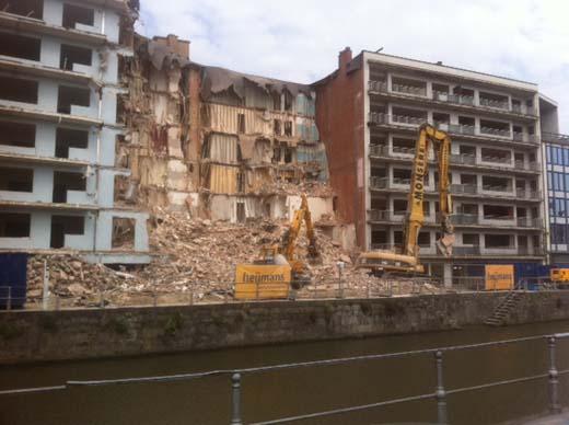 Werken Residentie Reepkaai in Kortrijk gestart