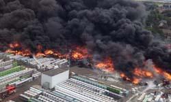 Brand bij Derbigum in Perwez