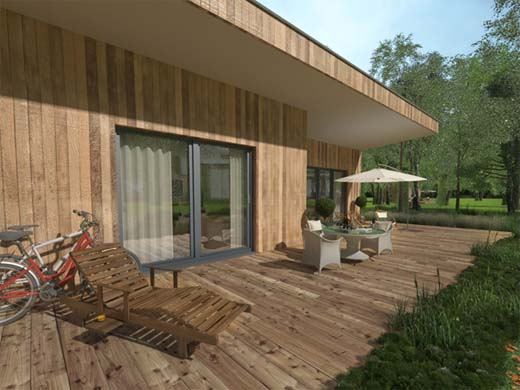 Vakantiepark les bois d ourthe opent in durbuy for Chalets te koop ardennen particulier