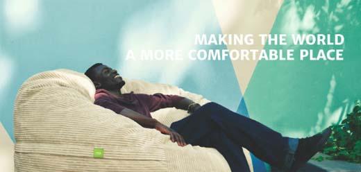 vetsak de zitzak die comfortabel zit. Black Bedroom Furniture Sets. Home Design Ideas