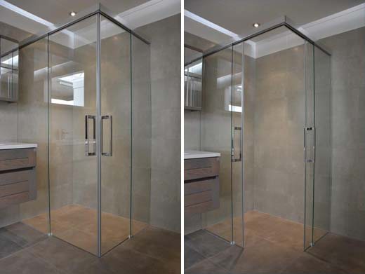 Met Slide Concept schuiven douchedeuren heerlijk open en dicht