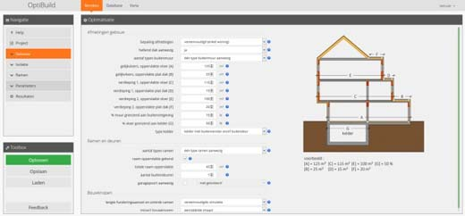 OptiBuild software printscreen
