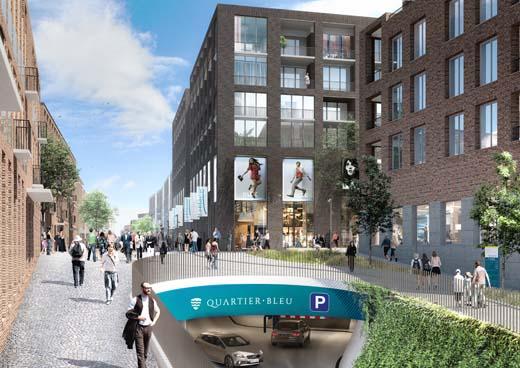 Blauwe Boulevard in Hasselt breidt uit met Quartier Bleu