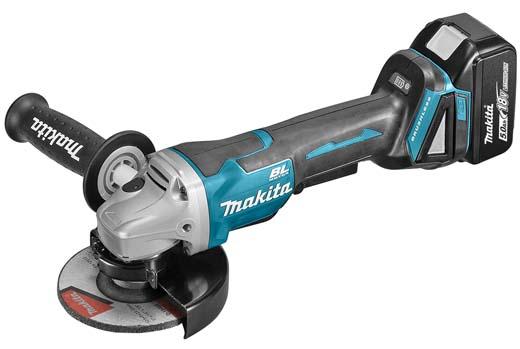 Makita 18 V haakse slijper scoort hoog op veiligheid en kracht