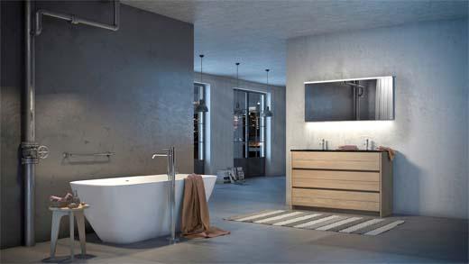 Nieuwe badkamercollectie desco telt 350 combinaties for Badkamers desco