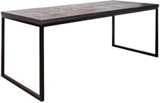 Nordland industriele tafel chipwood/stalen frame recht