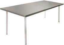 Finnmark industriele tafel chipwood/stalen frame gedraaid