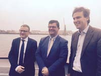 Vlaams minister Bart Tommelein bezoekt haven van Gent
