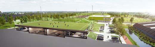 Kleurig sportpark op snelweg opgeleverd