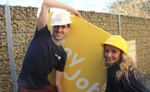 Hoe vind je gemotiveerde bouwvakkers? Met pizza…