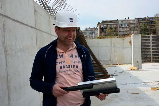 Chris Van Boven met zijn Concrete Stop