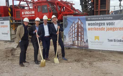 Bouw appartementen voor werkende jongeren in Leiden van start