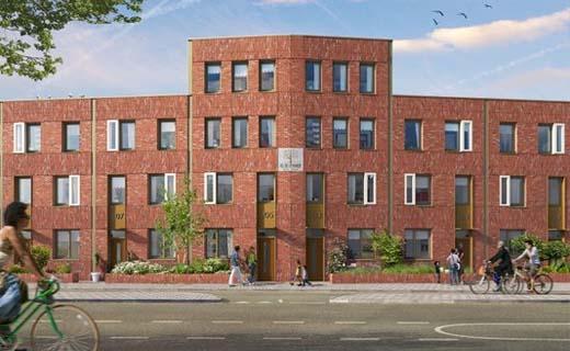Startsein bouw Bloesemhof in Utrecht