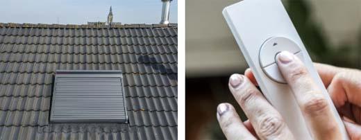 Rolluiken op dakvensters gaan de warmte tegen