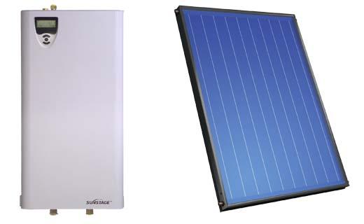 Sunstage zonthermisch systeem: nieuw pompstation en nieuwe collectoren
