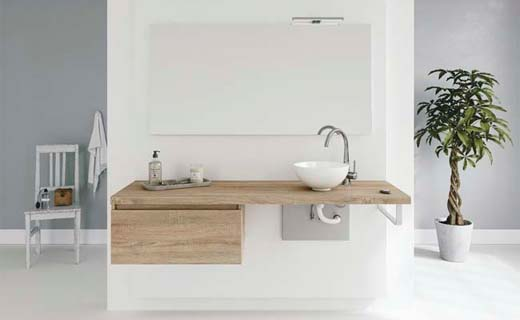 Badkamermeubel met hoog-laag systeem