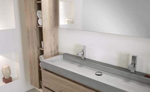 Badkamer Beton Interieur : Beton in de badkamer bouwenwonen