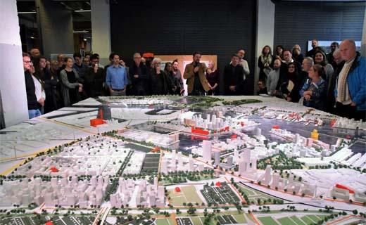 Maquette Haven-Stad nu te zien bij Architectuurcentrum Amsterdam
