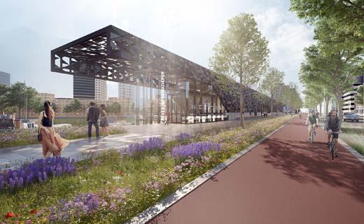 Definitief ontwerp voor Leuvepaviljoen in Rotterdamse binnenstad gepresenteerd